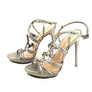 BCBGMAXARIZA Heels Sandals Silver SZ 10M